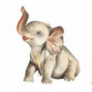 Filhote de Elefante Aquarela por Dani Purper - Urban Arts (COMPRE SOMENTE PELO WHATSAPP)