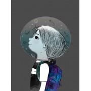 Garoto no espaço por  Tatiana Urban Arts  (COMPRE SOMENTE PELO WHATSAPP)
