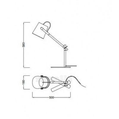 Luminária de Mesa Nórdica Mantra - 4Lamp