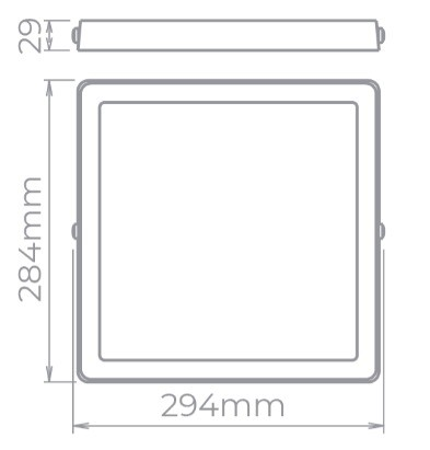 Painel Plafon de Sobrepor Stella - 4Lamp