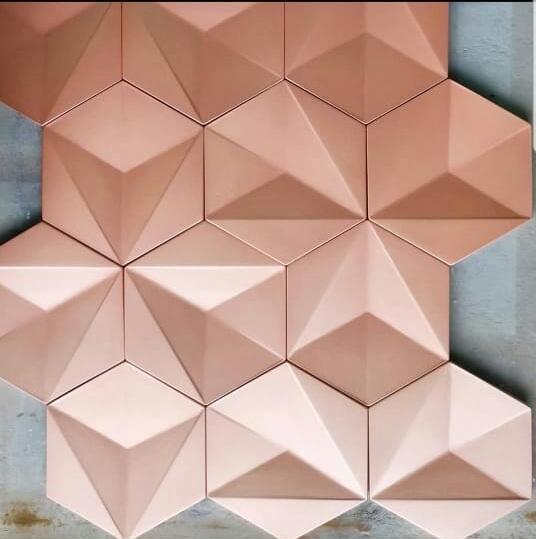 Revestimento cimentício 3D Coleção meraki (ESTE VALOR SE REFERE AO M²) - KDECOR