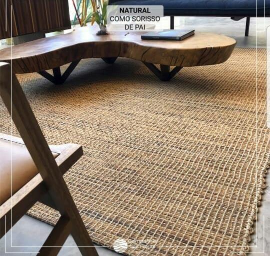 Tapete retangular cia das fibras Coleção Rústicos mod. Naturalis (ESTE VALOR SE REFERE AO M²) - KDECOR