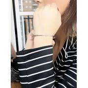 Bracelete Liso banhado em Ródio Branco