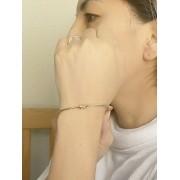 Bracelete Nó Liso banhado em Ouro 18K