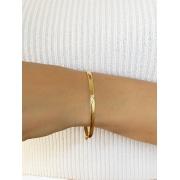 Bracelete V cravejado banhado em Ouro 18K