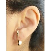 Brinco EarHook com Perola banhado em Ouro 18K/Ródio Branco