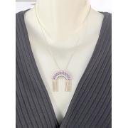 Colar Arco Iris Colors banhado em Ouro 18k/Ródio Branco