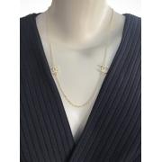 Colar Chanel Delicado banhado em Ouro 18K/Ródio Branco