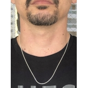 Corrente Elo Portugues Fino 60 cm Prata 925