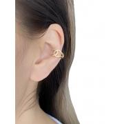 Piercing Chanel Liso banhado em Ouro 18K/Ródio Branco