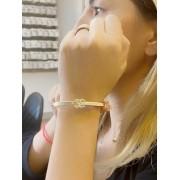 Pulseira Bracelete Chanel banhado em Ouro 18K