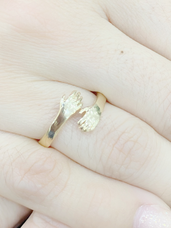 Anel Ajustavel Cristal banhado em Ouro 18K/Ródio Branco