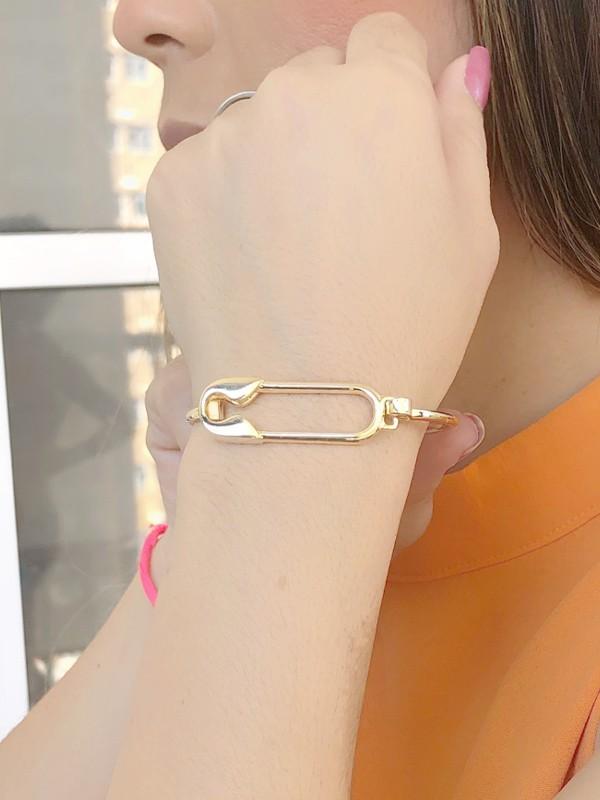 Bracelete Alfinete banhado em Ouro 18K