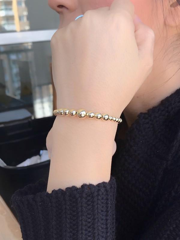 Bracelete Bolas Lisas banhado em Ouro 18K