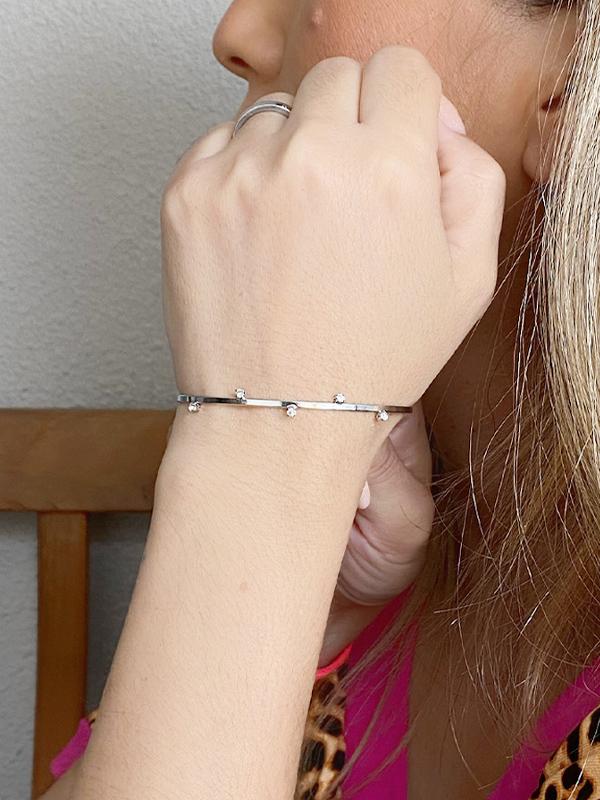 Bracelete com Pontos de Luz banhado em Ouro 18K