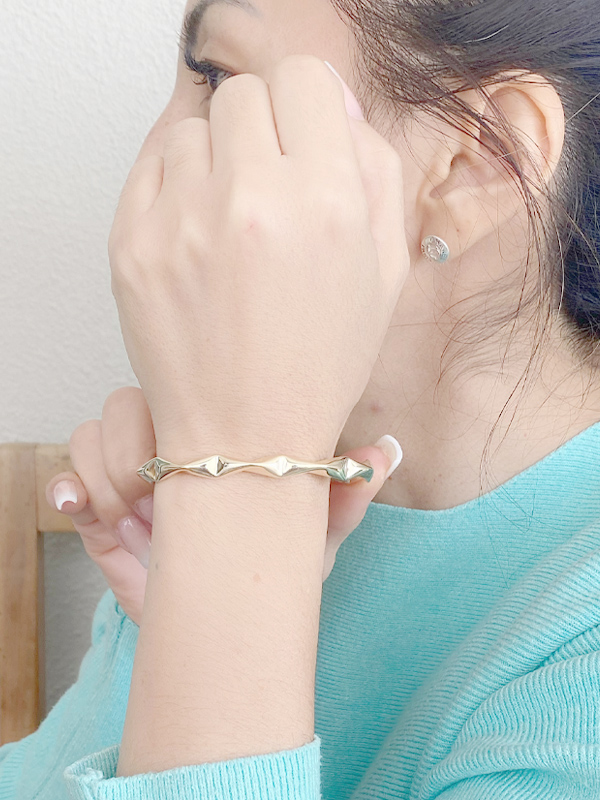 Bracelete Juliete banhado em Ouro 18k/Ródio Branco