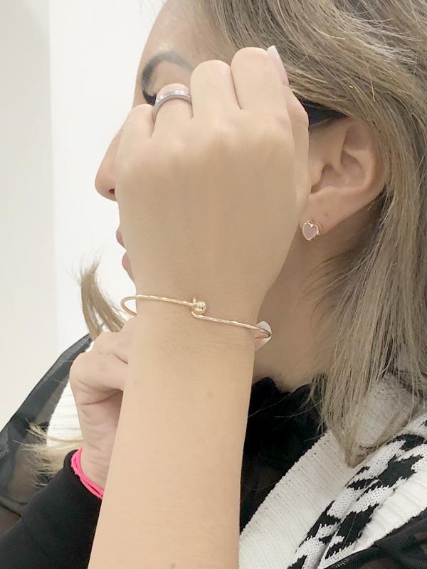 Bracelete Simples com Esfera banhado em Ouro 18K