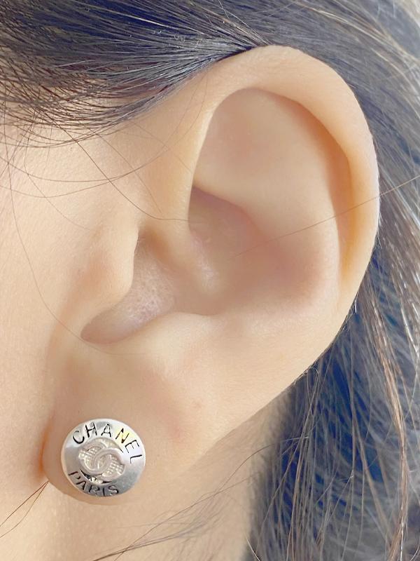 Brinco Chanel em Prata 925