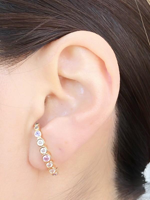 Brinco Earhook Colors banhado em Ouro 18K/Ródio Branco