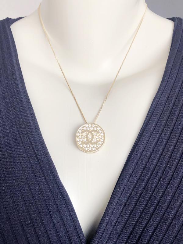 Colar Mandala Chanel banhado em Ouro 18K