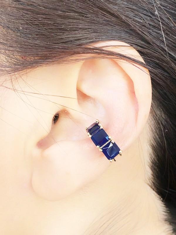 Piercing Azul Marinho banhado em Ouro 18K