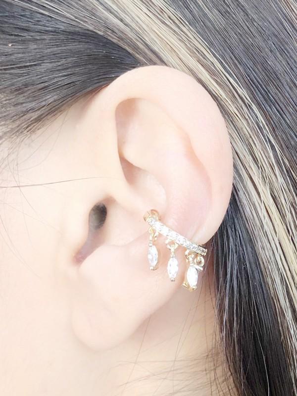 Piercing Com Zircônia Cristal banhado em Ouro 18K