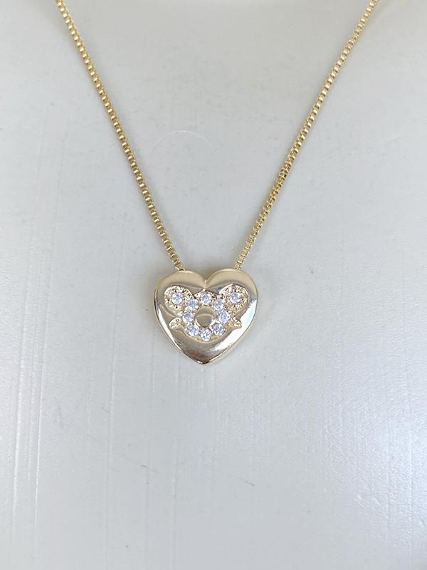 Pingente Coração Filha banhado em Ouro 18K