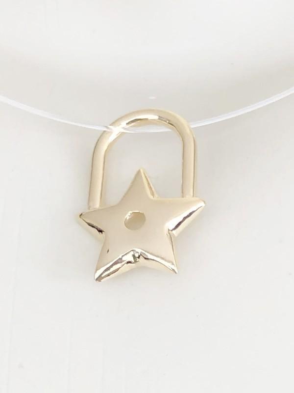 Pingente Estrela banhado em Ouro 18K/Ródio Branco