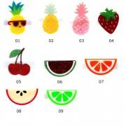 Clip Acrílico Frutas