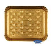Bandeja Dourada 23x19cm - Pacote com 10 unidades