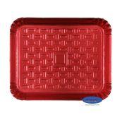 Bandeja Vermelha 33x27cm - Pacote com 10 unidades