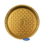 Prato Dourado 22,0cm - Pacote com 10 unidades