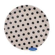 Prato Poá Branco 22,0cm - Pacote com 10 unidades