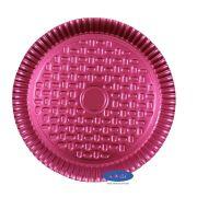 Prato Rosa 22,0cm - Pacote com 10 Unidades
