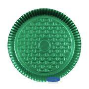 Prato Verde 25,5cm - Pacote com 10 unidades