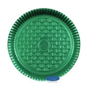 Prato Verde 28,0cm - Pacote com 10 unidades