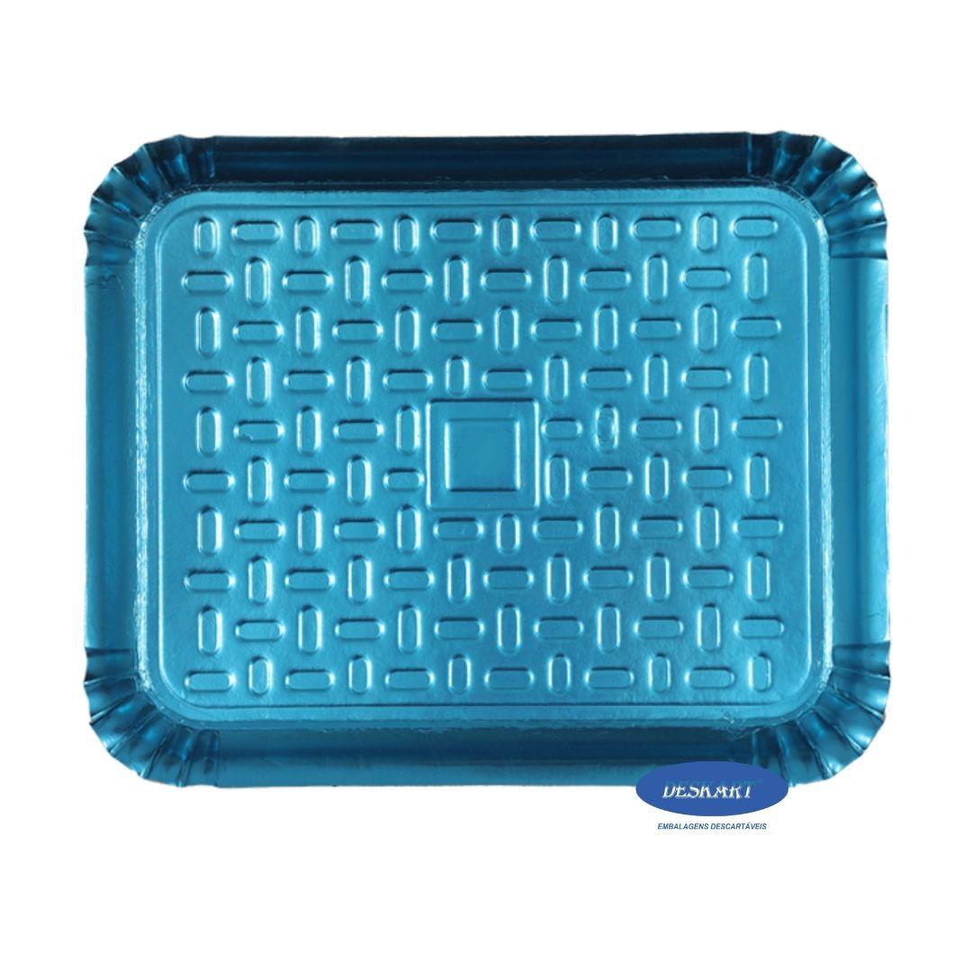 Bandeja Azul 46x37cm - Pacote com 10 unidades