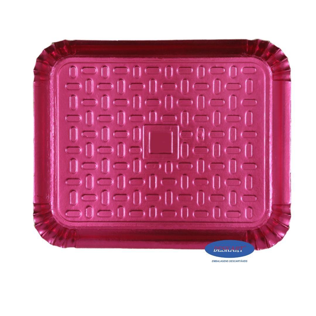 Bandeja Rosa 46x37cm - Pacote com 10 unidades
