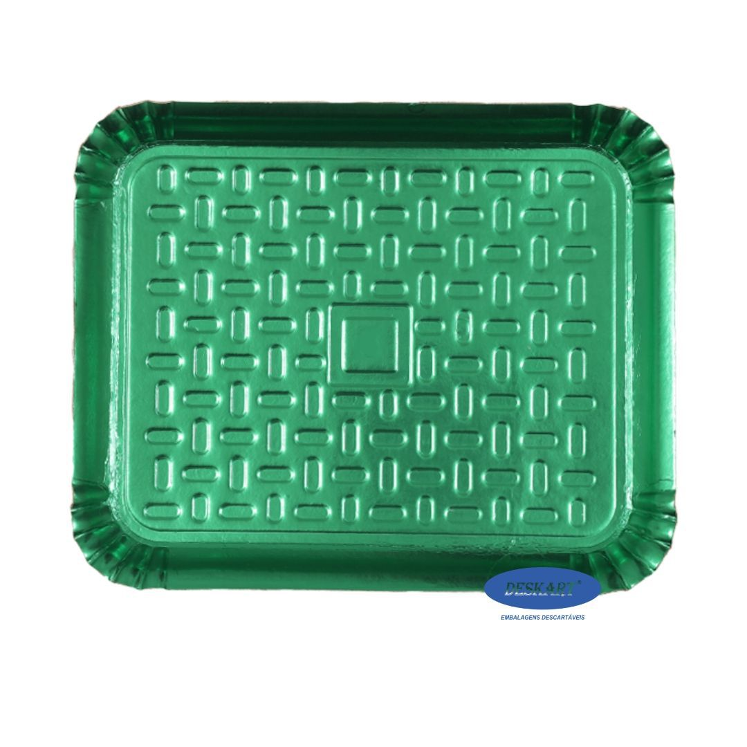 Bandeja Verde 50x41cm - Pacote com 10 unidades