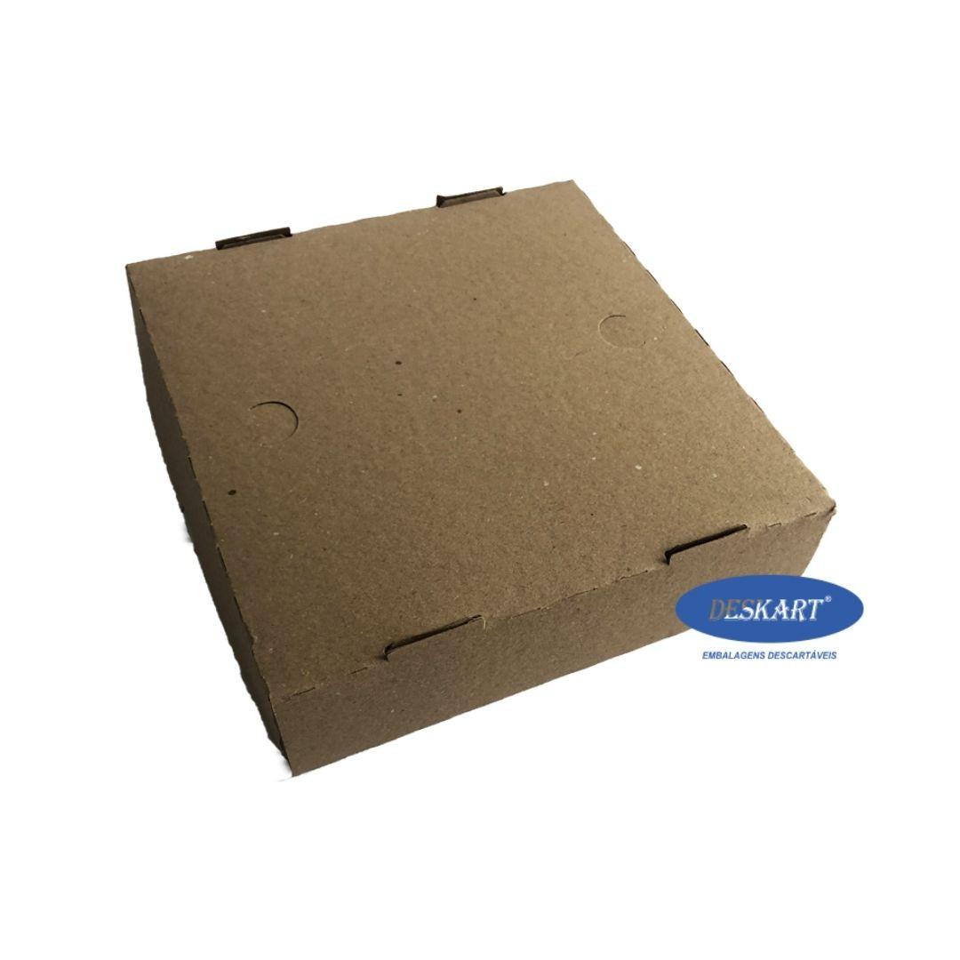 Caixa para doces e salgados PARDA 20x20x5 - Pacote com 25 unidades