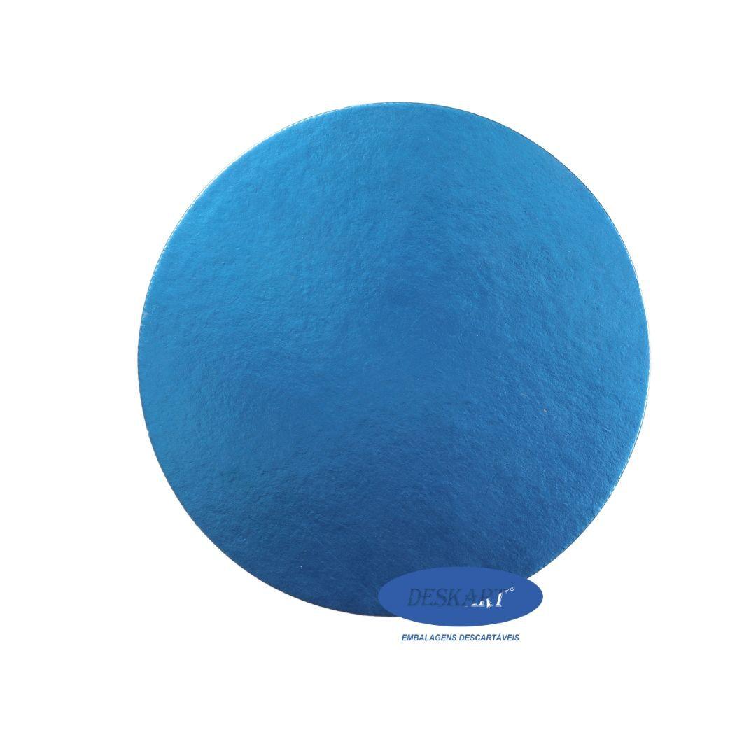 Disco Azul 22,0cm - Pacote com 10 unidades