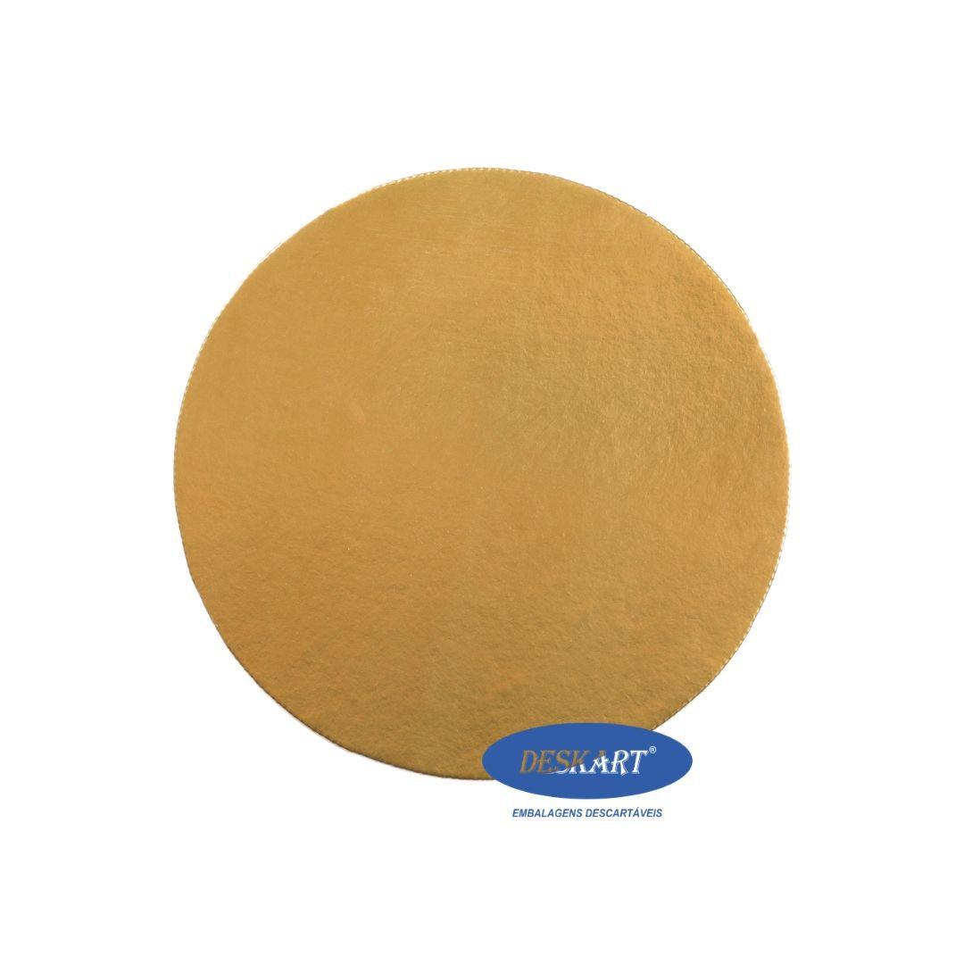 Disco Dourado 25,5cm - Pacote com 10 unidades