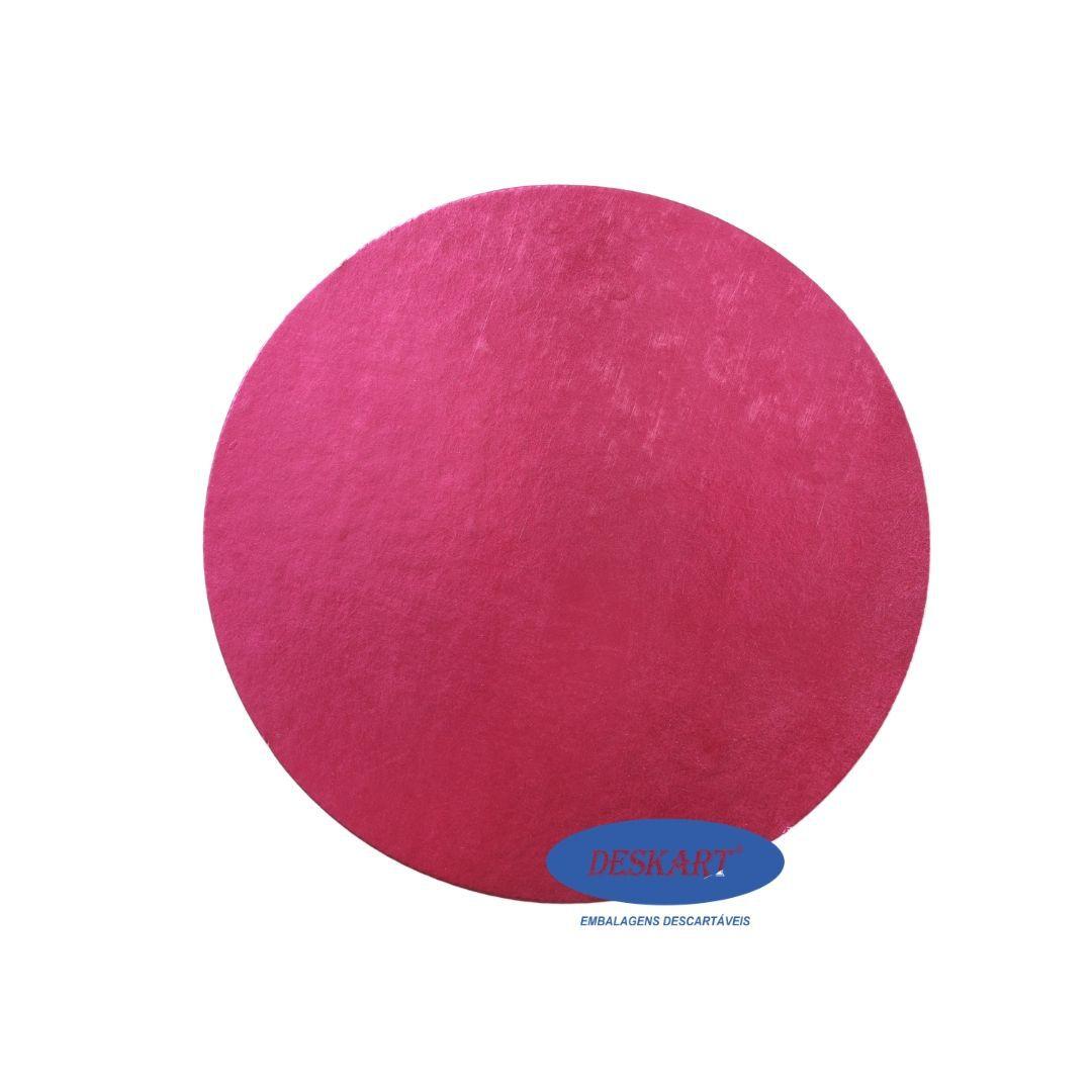 Disco Rosa 38,0cm - Pacote com 10 unidades