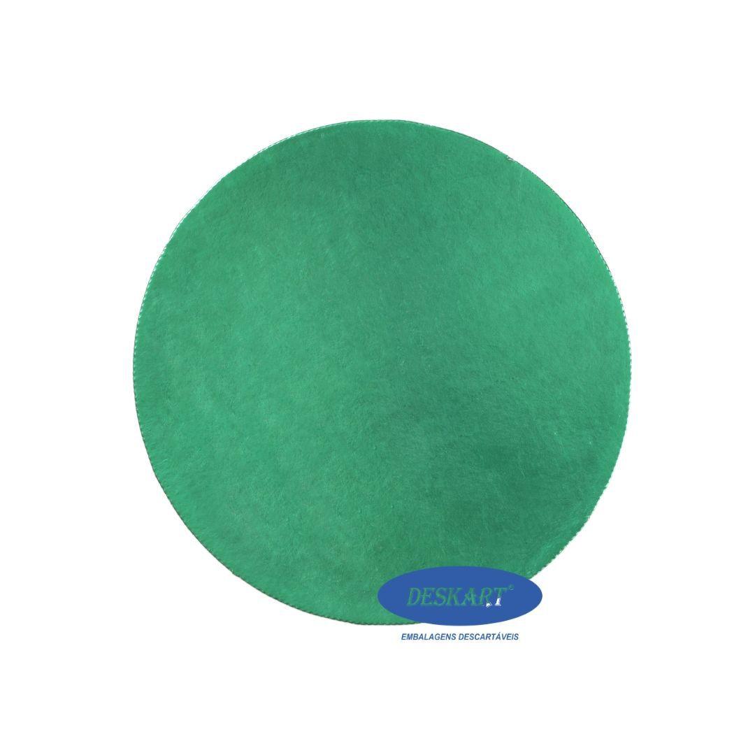 Disco Verde 25,5cm - Pacote com 10 unidades