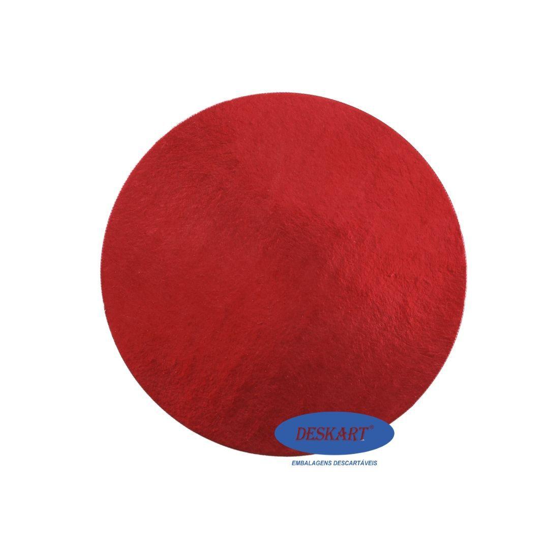 Disco Vermelho 25,5cm - Pacote com 10 unidades