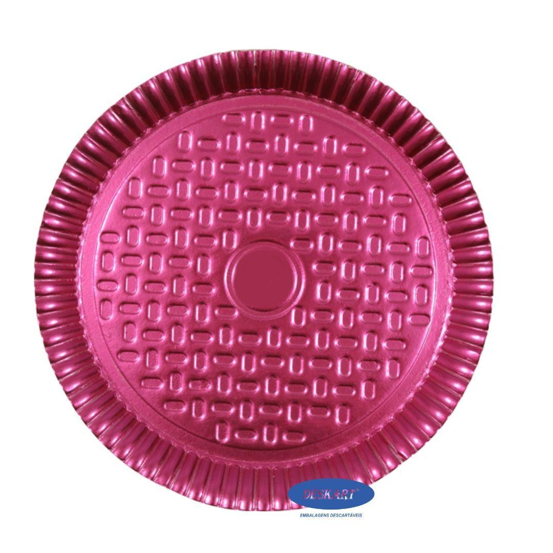 Prato Rosa 28,0cm - Pacote com 10 unidades