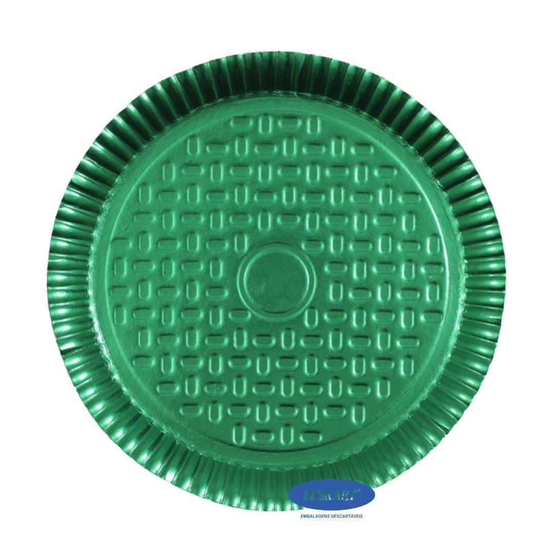 Prato Verde 38,0cm - Pacote com 10 unidades