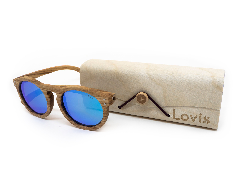 Óculos de Sol Wild Azul - 100% Madeira