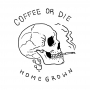 Camiseta Coffee Skull