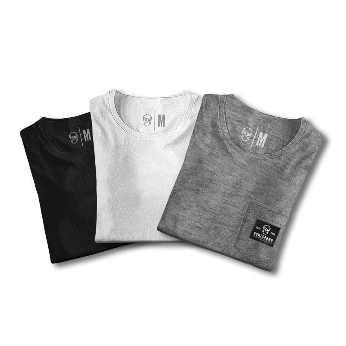 Pack Camisetas Básicas Com Bolso